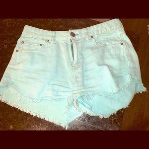 Pants - Free people cut off blue shorts size 27